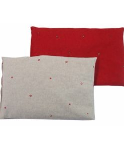 coussins, rouge